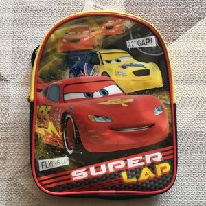 NWT Disney's Cars Lightning McQueen Backpack